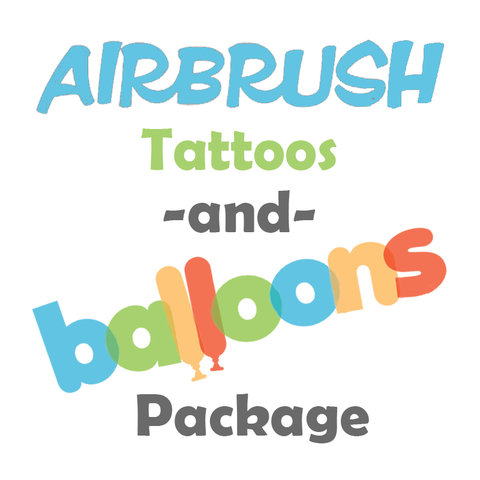 Airbrush Tattoos and Balloons Package