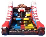 5 Hoop Inflatable Basketball Challenge