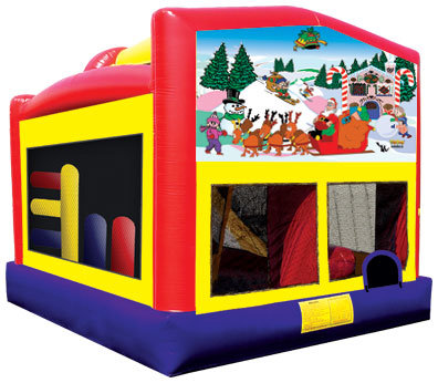 Christmas Combo 5-1 Bounce House with Slide