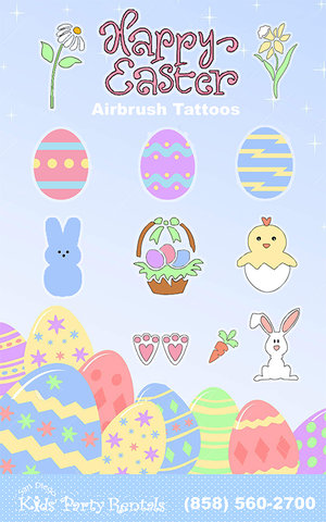 Easter Airbrush Tattoo Artist