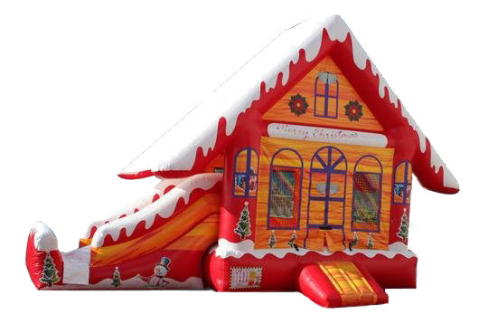 Gingerbread Bounce House with Slide Combo