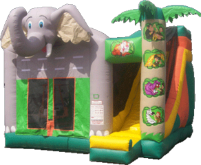 Jungle Adventure 4-1 Bounce House with Slide