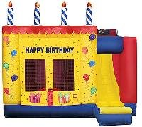 Birthday Cake 4-1 Bounce House and Slide