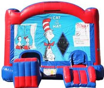 Cat in the Hat Bounce House with Slide