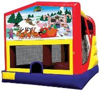 Christmas Bounce House with Slide 4-1 Combo