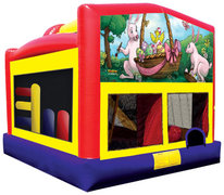 Everyday Combo 5-1 Bounce House with Slide Easter banner 2
