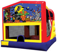 Halloween 4-1 Bounce House with Slide