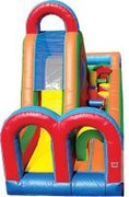 Turbo Rush - Single Lane Inflatable Obstacle Course (LEFT)