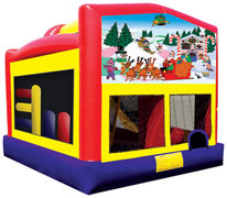 Everyday Combo 5-1 Bounce House with Slide with Christmas banner 2