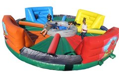 Inflatable Hungry Hippo Bungee Challenge