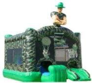 Military Bounce House with Slide