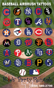 MLB Airbrush Tattoo Artist