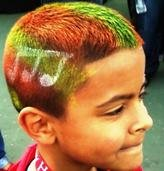 Colorful Hair Painting