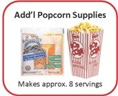 Popcorn Machine - Set of 8 Additional Servings