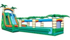 56' Tropical Dual Lane Water Slide