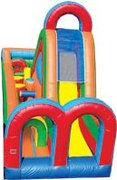 Turbo Rush - Single Lane Inflatable Obstacle Course (RIGHT)