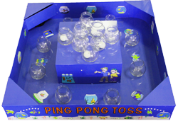 Ping Pong Toss Carnival Game with Floating Bowls