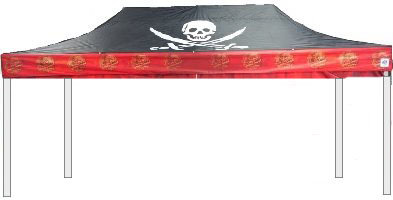 Pirate Ship Themed Canopy 10x20