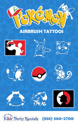 Pokemon Airbrush Tattoo Artist