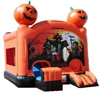 Pumpkin 5-1 Bounce House with Slide