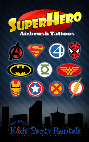 Superhero Airbrush Tattoo Artist