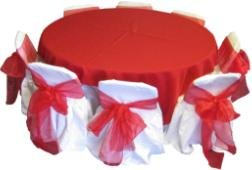 Red and White Kids Table And Chair Set