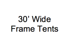 Future Trac 30' Wide Frame Tents