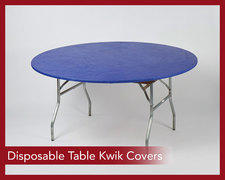 Disposable Table Kwik Covers
