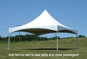High Peak White 20 ft. by 20 ft. Frame Tent