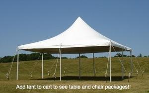 20' by 20' Pole Tent Standard Package