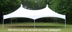 20' by 40' Frame Tent Standard Package