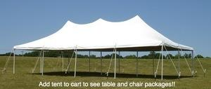 20' by 40' Pole Tent Special Package
