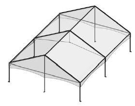 30' by 45' Frame Tent Seating for 96
