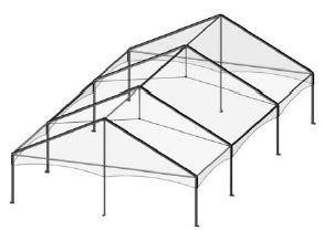 30' by 60' Frame Tent Seating for 128
