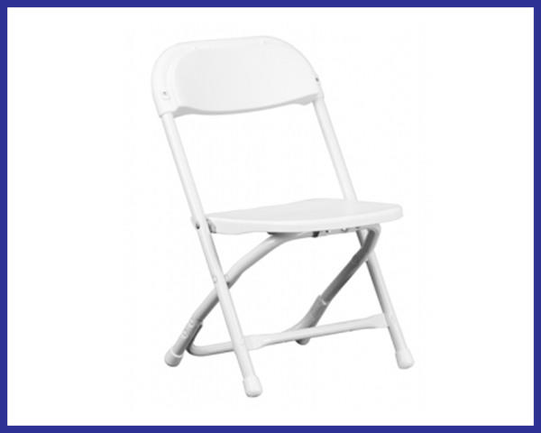 Chair - Kids Folding WHITE