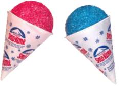 Cherry & Blue Raspberry Sno Kone Servings for 50