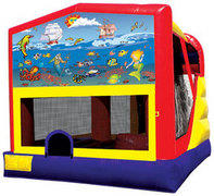 C4 Underwater Adventure Combo Bouncer with slide