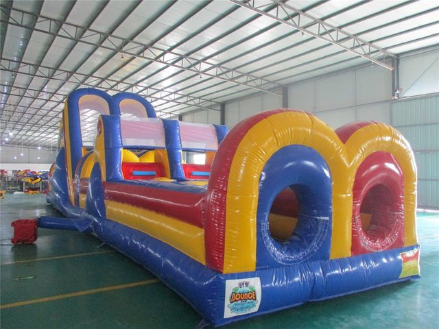 55ft Obstacle Course w/ 18ft Dual Slide