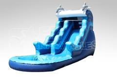 17 ft Dolphin slide Wet