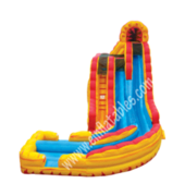 20 ft fire and Ice slide with pool wet