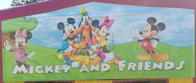Mickey mouse and Minnie and friends Panel