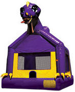 Purple Dinosaur Bounce House