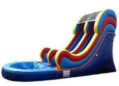 16' Multicolored Water Slide