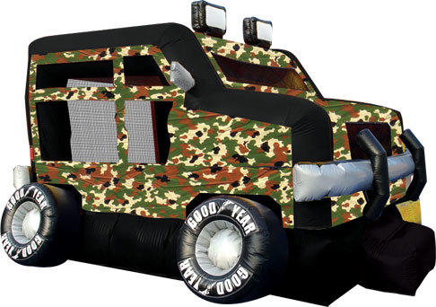 Camo Monster Truck Bounce House