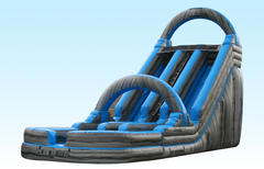 20' Blue Mountain Dual Lane Dry Slide