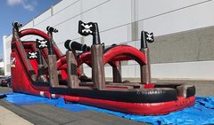 22' Black Pearl Dual Lane Water Slide w Slip and Slide