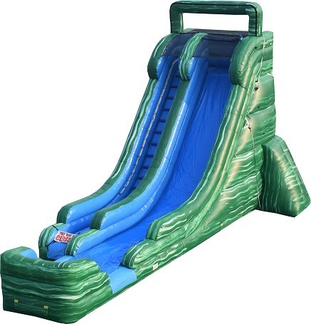 22ft Green Water Slide