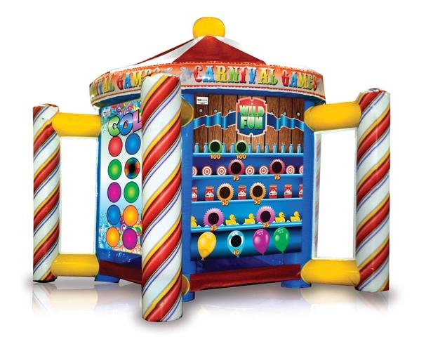 Five Carnival Games in One Inflatable