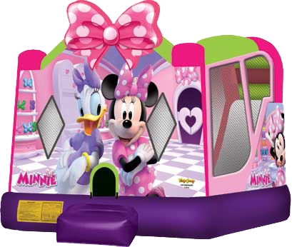 Minnie Mouse Bounce House Combo Waterslide (Wet)