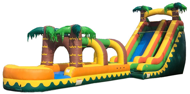 18ft Tropical Breeze Waterslide with Coconut Run (Wet)
